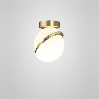 Crescent Ceiling Light  by Lee Broоm золото
