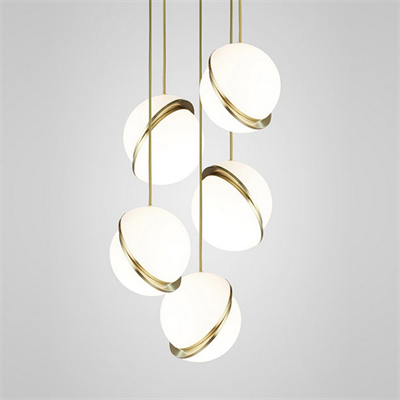 Crescent Chandelier 5 by Lee Broоm золото