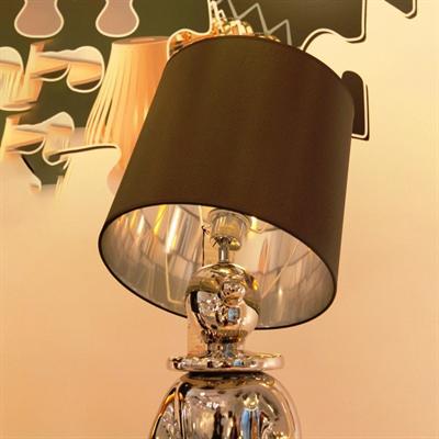 Лампа настольная Clown 2 Jaime Hayon черный абажюр хромированный человек