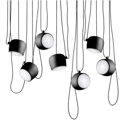 Светильник подвесной Flos Aim 7 Black by Ronan & Erwan Bouroullec