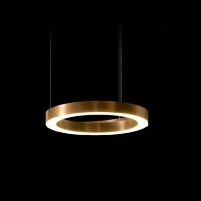 Круглая люстра Horizontal Henge Light Ring D40 Copper