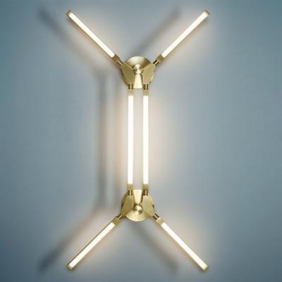 Светильник настенно-потолочный Pris Minor  Pelle золото