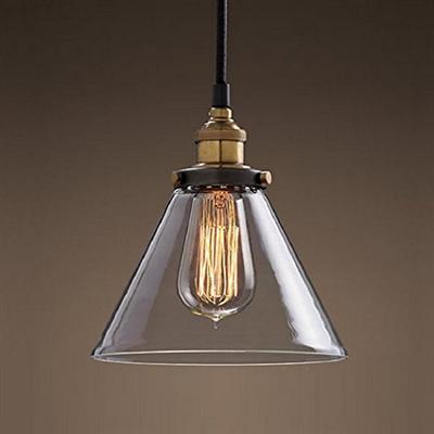 Светильник подвесной Loft Clear Glass Wide Cloche