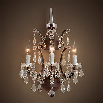 Светильник настенный Loft Rococo Iron & Clear Crystal