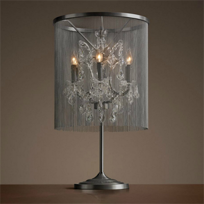 Лампа настольная лофт Pluma Vaille Cristal 6