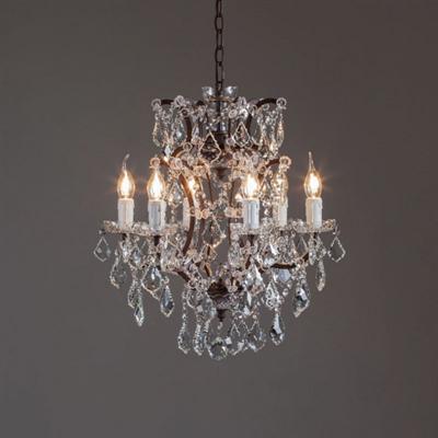 Люстра Loft Rococo Iron & Clear Crystal 6 - фото 24696