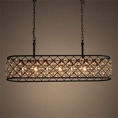 Люстра Spencer Rectangular Hanging Chandelier 100 - фото 24718