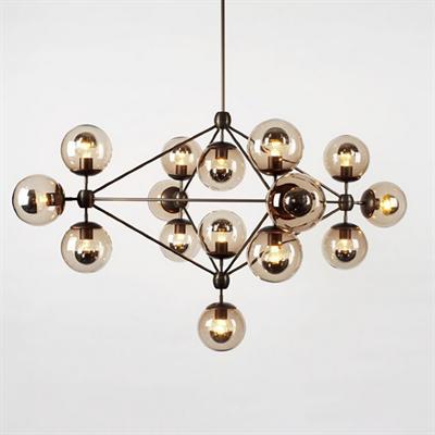 Люстра Modo Chandelier 15 Globes в стиле Roll & Hill - фото 24927
