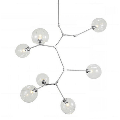 Люстра Branching Bubbles 7 Vertical Nickel - фото 26184