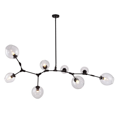 Люстра Branching Bubbles 8 Black - фото 26241