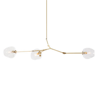 Люстра Branching Bubbles 3 Long Gold - фото 26365
