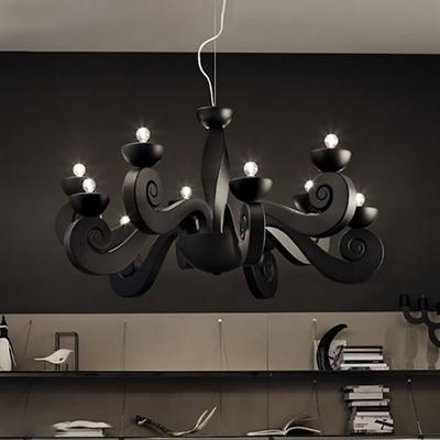 Люстра Botero S3+3 black черная - фото 26501