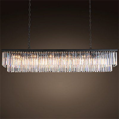 Люстра Odeon Clear Glass Hanging Chandelier D12 - фото 26659