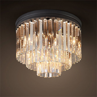 Люстра Odeon Clear Glass Ceiling Chandelier 3 Rings - фото 26661