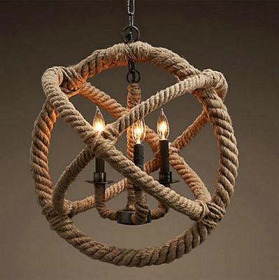 Люстра Loft Gyro Hemp Rope Sphere 43 - фото 26712