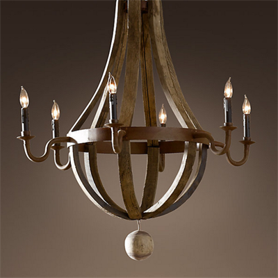Люстра Loft Wine Barrel Hanging Chandelier 6 - фото 26727