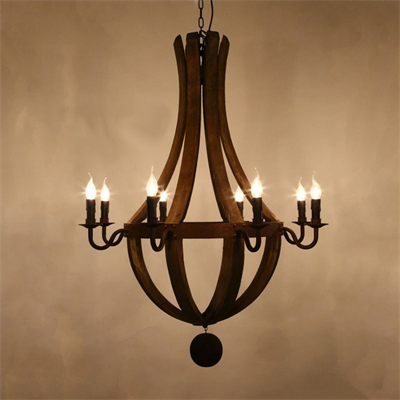 Люстра Loft Wine Barrel Hanging Chandelier 8 - фото 26731