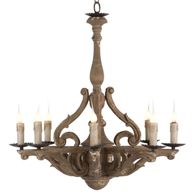 Люстра Loft Castille Rustic Carved Wood - фото 26740