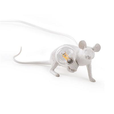 Настольная Лампа Мышь Mouse Lamp #3  Н8 см Белая - фото 26924