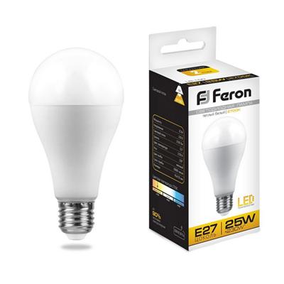 Лампа светодиодная Feron LB-100 Шар E27 25W 2700K - фото 27237