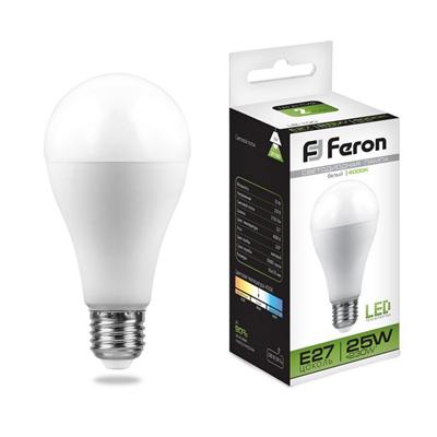 Лампа светодиодная Feron LB-100 Шар E27 25W 4000K - фото 27238