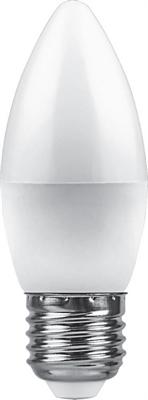 Лампа светодиодная Feron LB-570 Свеча E27 9W 4000K - фото 27279