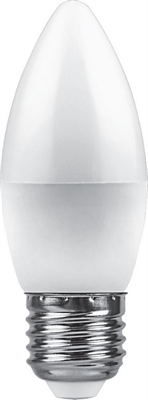 Лампа светодиодная Feron LB-570 Свеча E27 9W 6400K - фото 27280