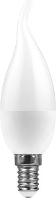 Лампа светодиодная Feron LB-770 Свеча на ветру E14 11W 4000K - фото 27309