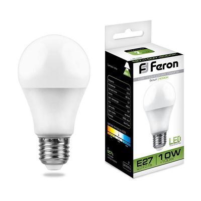 Лампа светодиодная Feron LB-92 Шар E27 10W 4000K - фото 27313