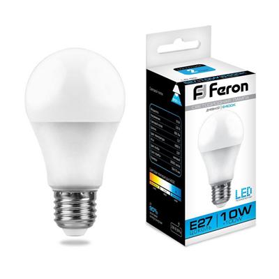 Лампа светодиодная Feron LB-92 Шар E27 10W 6400K - фото 27315