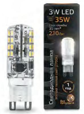 Лампа светодиодная Gauss LED G9 AC185-265V 3W 280lm 2700K 1/20/200 диммируемая - фото 27332