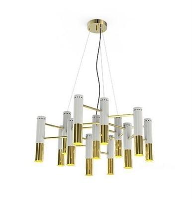 Люстра Ike 13 Lamp Белый+Золотой - фото 29040