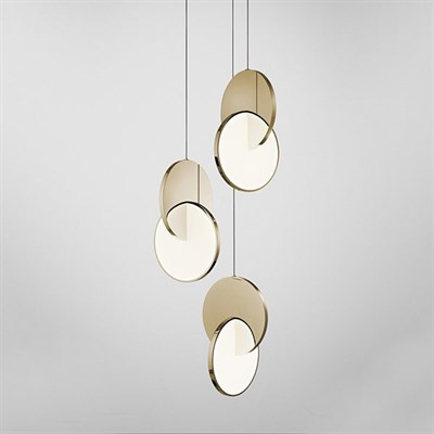 Люстра Eclipse Chandelier Gold - фото 29824