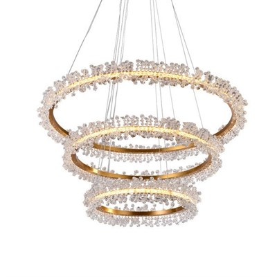 Люстра Halo Crystal Pendant Lamp Gold 3 - фото 31147