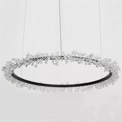 Люстра Halo Crystal Pendant Lamp черный D100 - фото 31196