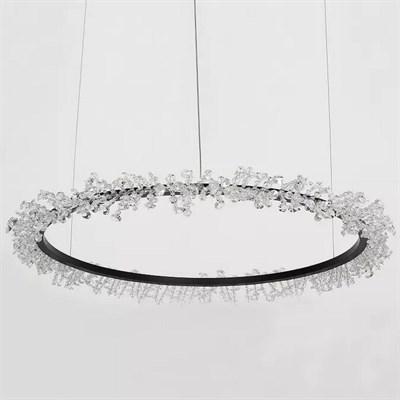 Люстра Halo Crystal Pendant Lamp черный D110 - фото 31213