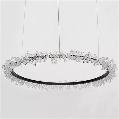 Люстра Halo Crystal Pendant Lamp черный D150 - фото 31231