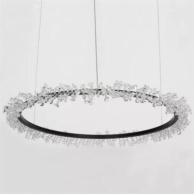 Люстра Halo Crystal Pendant Lamp черный D60 - фото 32387