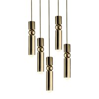 Fulcrum Light 5 by Lee Broоm Gold