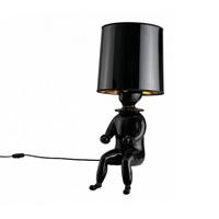 Лампа настольная Clown 1  Jaime Hayon черный сидящий человек