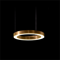 Круглая люстра Horizontal Henge Light Ring D40 Copper