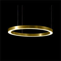 Henge Light Ring Horizontal D70 Brass