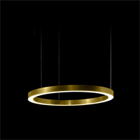 Henge Light Ring Horizontal D50 Brass