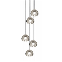 Mizu 5 Five Pendant Chandelier by Terzani