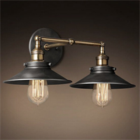 Светильник настенный Loft Cone Factory Filament Double