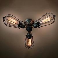 Светильник настенный лофт Marconi Cage Trio