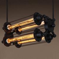Светильник подвесной Loft Edison Cage Horizontal Quatro