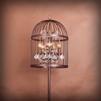 Лампа настольная лофт клетка Steampunk Birdcage Pendant Table