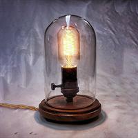 Лампа настольная лофт под стеклянным куполом Flask