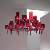 Люстра Spillray 20  red в стиле Axo Light Manuel Vivian